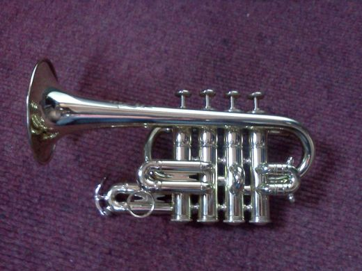 A modern piccolo trumpet.  Image courtesy Christopher Roberts and Wikimedia Commons.
